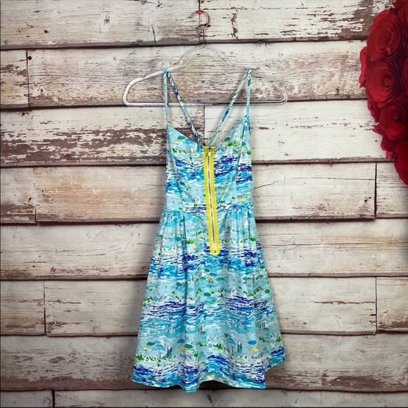 Lilly Pulitzer High Tide Toile Alexi Dress